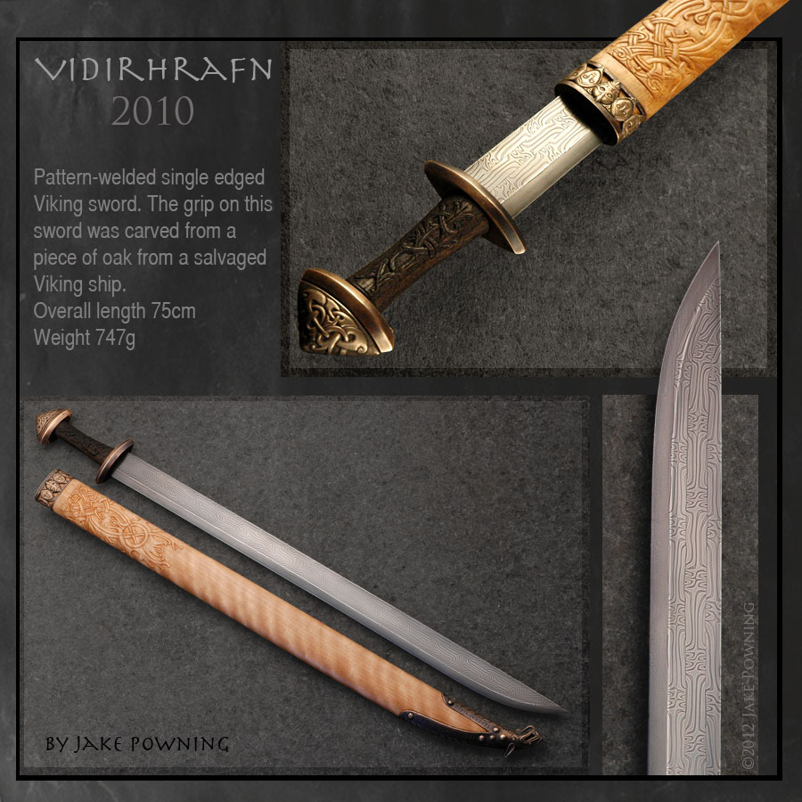 Single edged pattern-welded viking sword