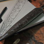 tooled scabbard